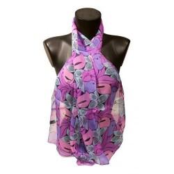 Echarpe longue soie : Dufy - Bouquet d'arums