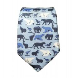 Cravate soie : Pompon - Animaux