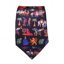 Cravate tissée Routes de la soie