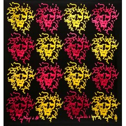 Boggio - Tetes de lions Bordeaux jaune