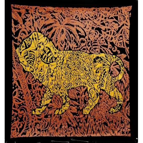 Boggio - Lion dans la jungle Bleu jaune