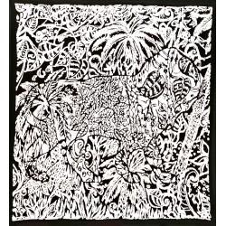 Boggio - Lion dans la jungle Noir et blanc