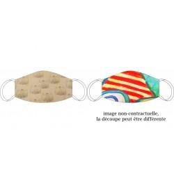 Masque en soie recto-verso De Vinci beige - Chabaud