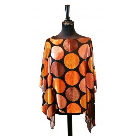 Poncho Pois 11 Orange