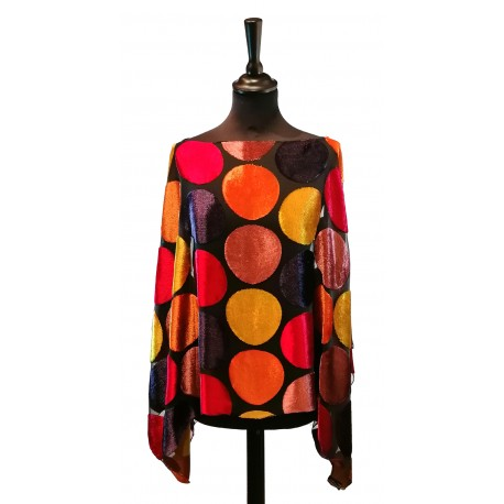 Poncho Pois 11 Orange