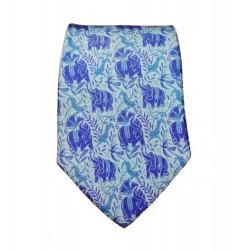 Cravate soie : Dufy - Jungle Éléphants