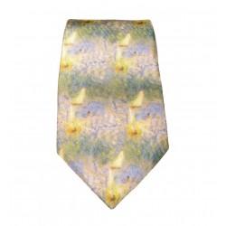 Cravate soie : Renoir - Bateaux
