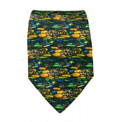Cravate soie : Tiffany - Waterlily